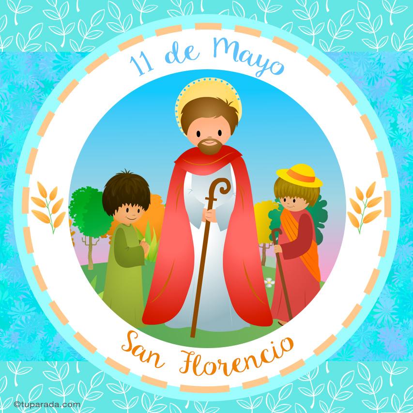 Tarjeta - Día de San Florencio, 11 de mayo