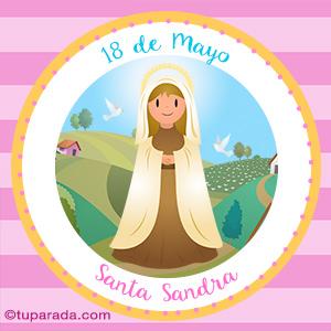 Día de Santa Sandra, 18 de mayo