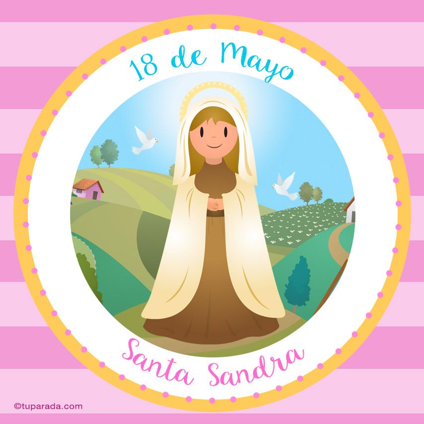Tarjeta - Día de Santa Sandra, 18 de mayo