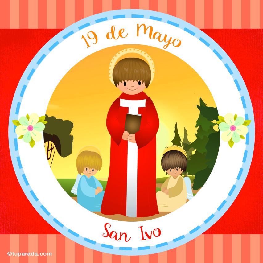 Tarjeta - Día de San Ivo, 19 de mayo