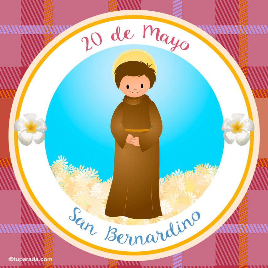 Tarjeta - Día de San Bernardino, 20 de mayo