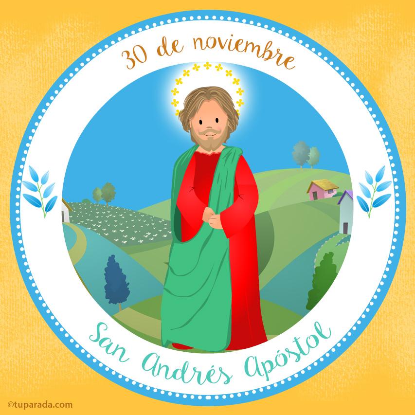 Tarjeta - Día de San Andrés, 30 de noviembre