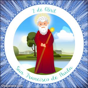 Día de San Francisco de Paula, 2 de abril