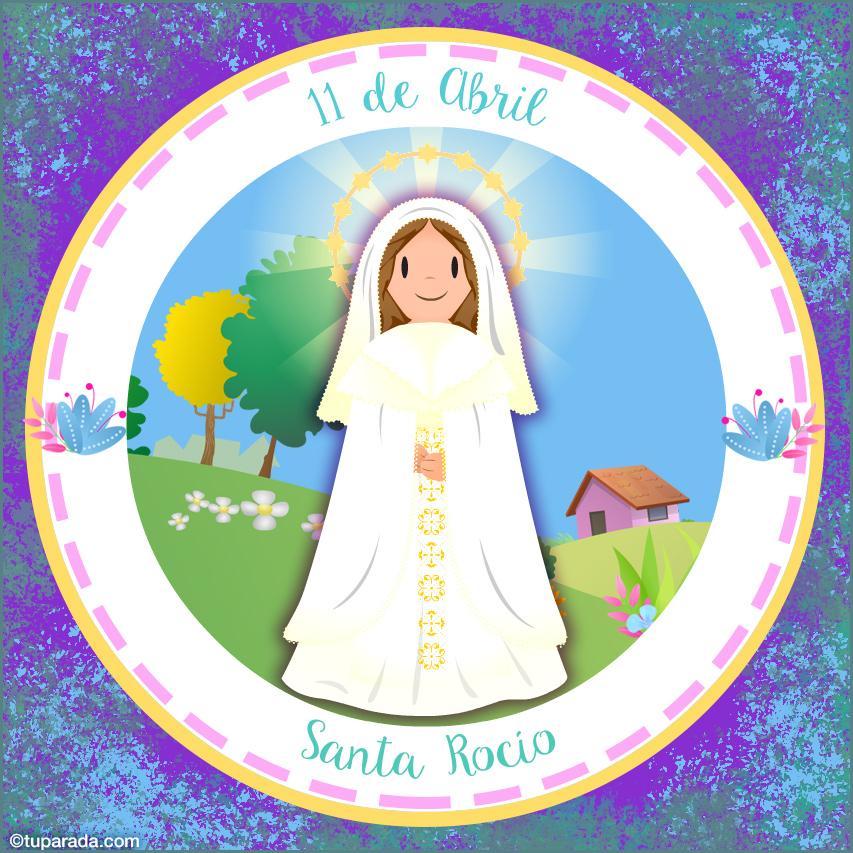Tarjeta - Día de Santa Rocío, 11 de abril