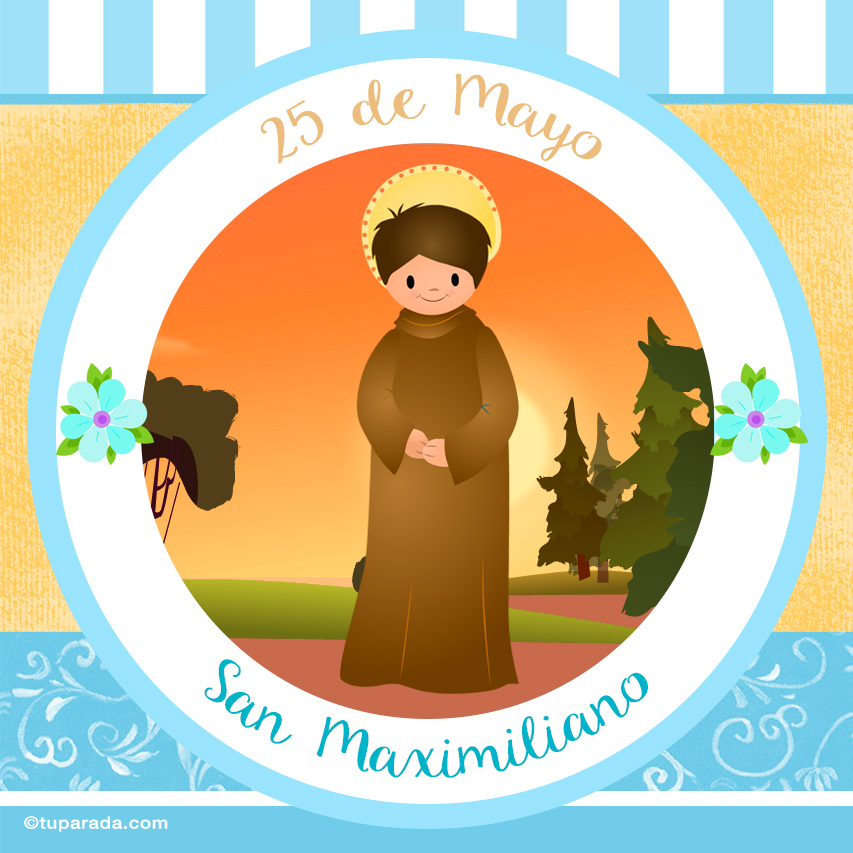 Tarjeta - Día de San Maximiliano, 25 de mayo