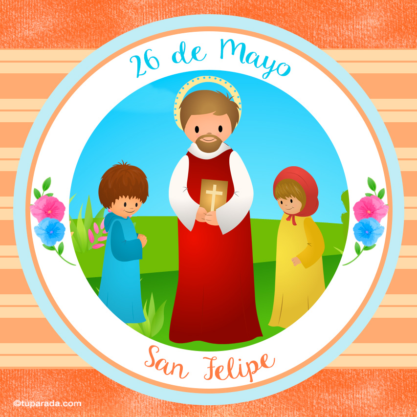 Tarjeta - Día de San Felipe, 26 de mayo