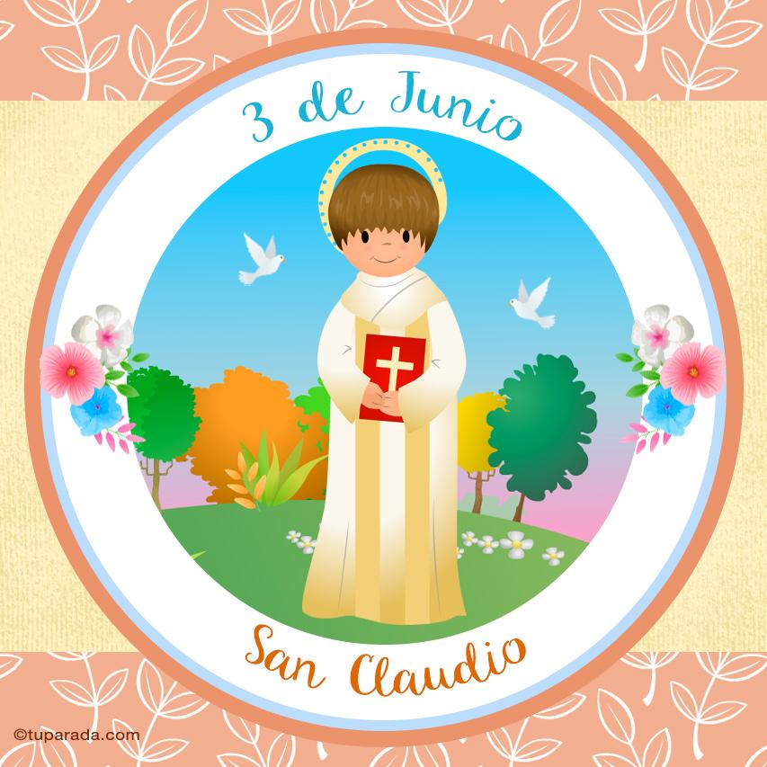 Tarjeta - Día de San Claudio, 3 de junio