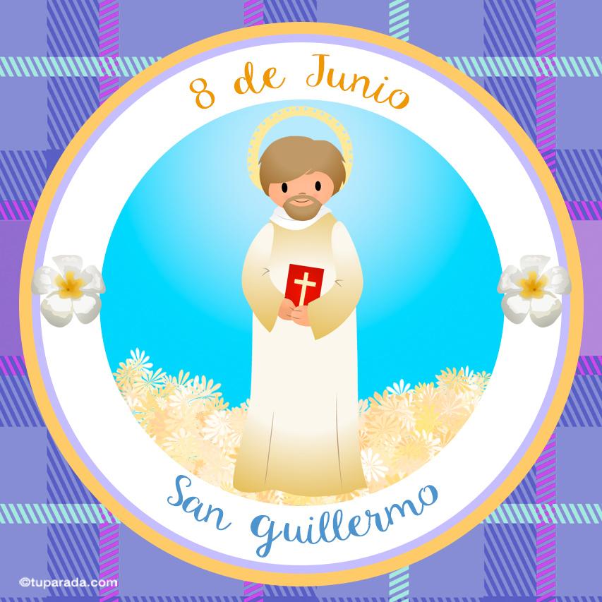 Tarjeta - Día de San Guillermo, 8 de junio