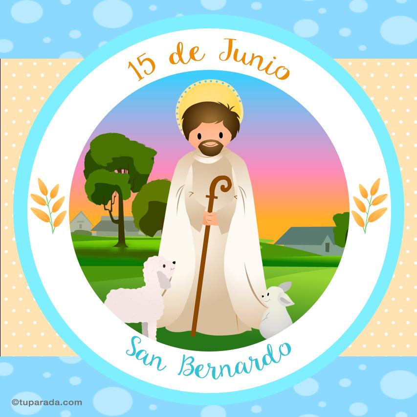 Tarjeta - Día de San Bernardo, 15 de junio