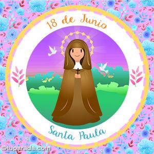 Día de Santa Paula, 18 de junio