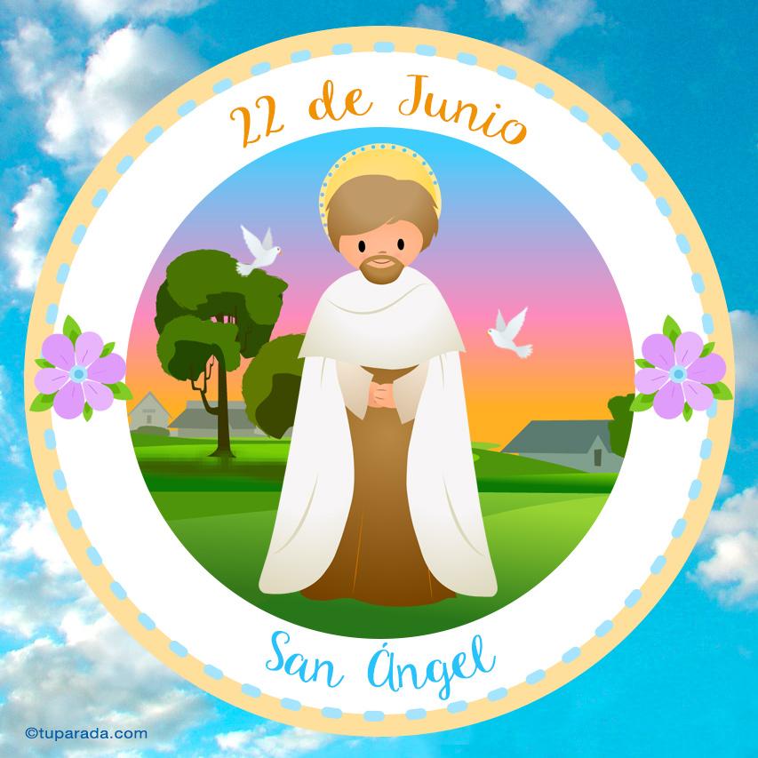Tarjeta - Día de San Ángel, 22 de junio