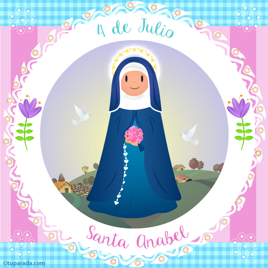 Tarjeta - Día de Santa Anabel, 4 de julio