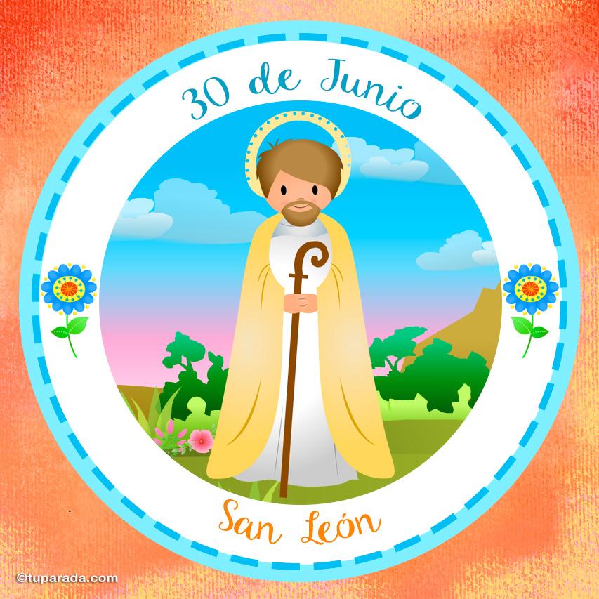 Tarjeta - Día de San León, 30 de Junio