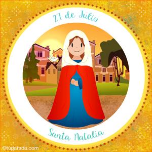 Día de Santa Natalia, 27 de julio