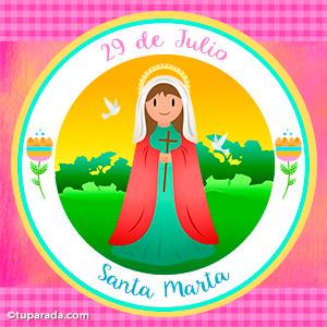 Día de Santa Marta, 29 de julio