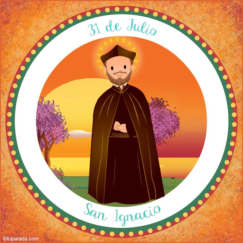 Tarjeta - Día de San Ignacio, 31 de julio