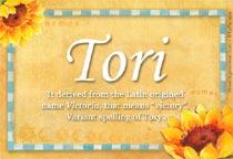Name Tori