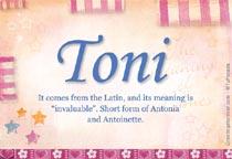 Name Toni