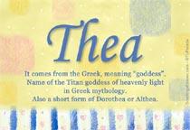 Name Thea
