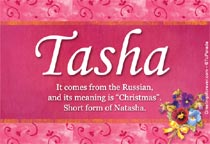 Name Tasha