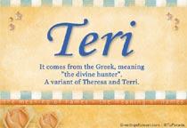 Name Teri