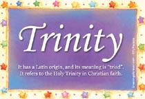Name Trinity
