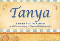 Name Tanya