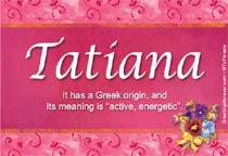 Name Tatiana