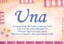 Name Una