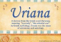 Name Uriana