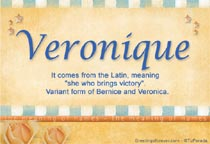 Name Veronique