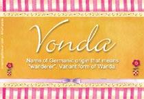 Name Vonda