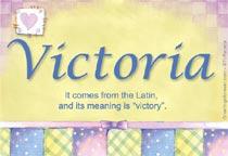 Name Victoria