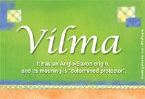 Name Vilma