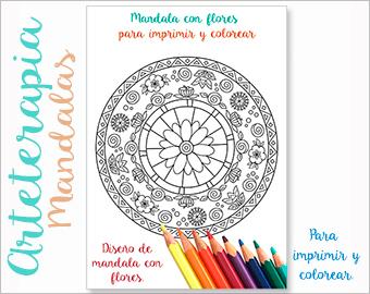 Arteterapia Mandala con flores