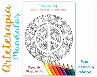 Arteterapia Mandala Paz