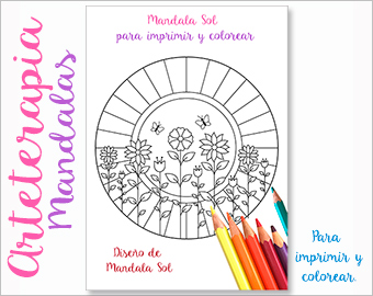 Arteterapia Mandala Sol