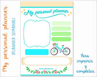 My Personal Planner semanal