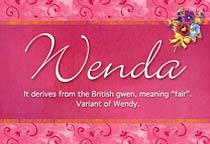 Name Wenda