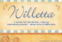 Name Willetta