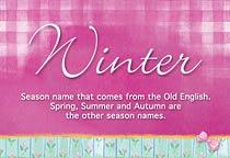 Name Winter