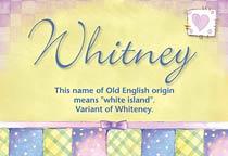 Name Whitney