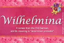 Name Wilhelmina