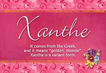 Name Xanthe