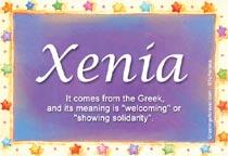 Name Xenia