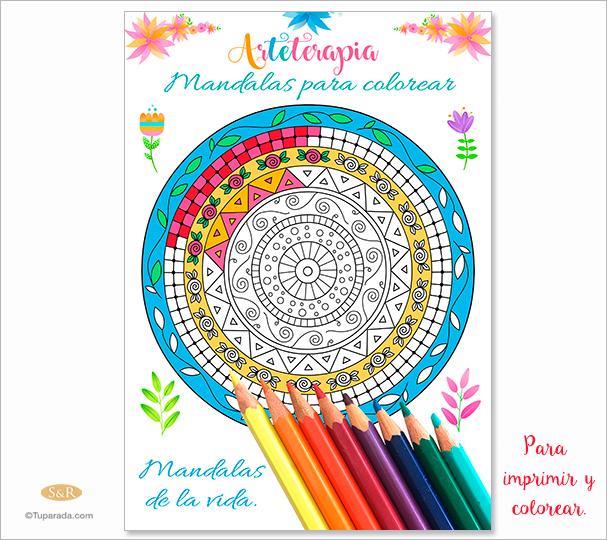 Ebook: Arteterapia - Mandalas para colorear