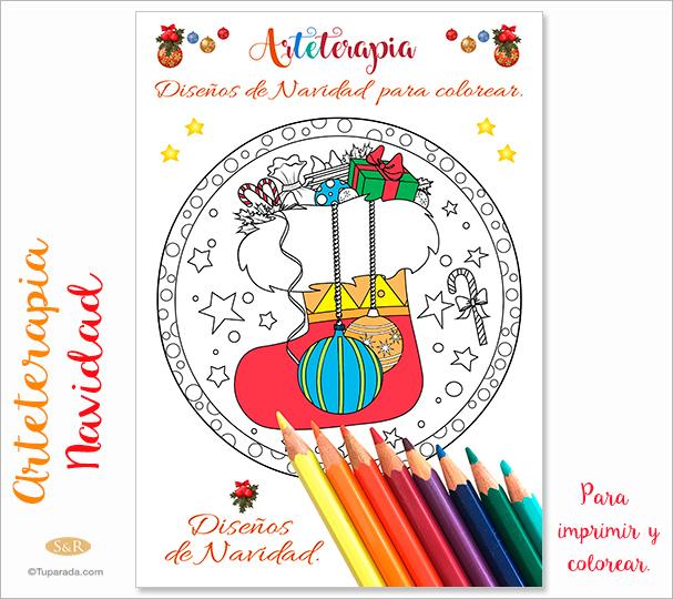 Ebook: Arteterapia - Navidad para colorear