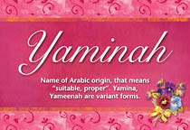 Name Yaminah