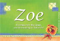 Name Zoe