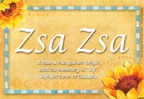 Name Zsa Zsa